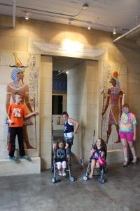 Kids walking like Egyptians